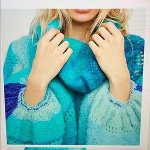 Free people cloud kicker cowl neck sweater
